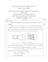ĐỀ thi tốt nghiệp cao đẳng nghề ngành nguội sửa chữa máy tính công cụ phần lý thuyết và đáp án mã   (3)