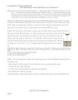 ĐỀ THI HỌC SINH GIỎI CÁC TRƯỜNG CHUYÊN DUYÊN HẢI VÀ ĐỒNG BẰNG BẮC BỘ NĂM 2015 -Vật lý  10 trường chuyên Nguyễn Trãi