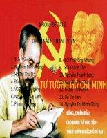 Phân tích tư tưởng Hồ Chí Minh về mối quan hệ giữa cách mạng giải phóng dân tộc ở thuộc địa và cách mạng ở chính quốc. Ý nghĩa của vấn đề nghiên cứu