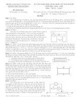 Đề môn vật lý 9 kiển tra, thi học sinh giỏi, tuyển sinh vào 10 chuyên sưu tầm bồi dưỡng (2)