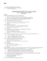đề thi môn Pháp luật đại cương (có đáp án) đại học thương mại