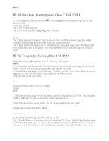 Đề thi tổng luận thương phẩm khoa C 16.12.2013 đại học thương mại