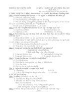 Đề kiểm tra học kì II môn ngữ Văn 7 năm học 2014 - 2015 (có đáp án)