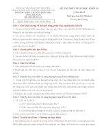 ĐỀ THI (ĐỀ XUẤT) HỌC SINH GIỎI CÁC TRƯỜNG CHUYÊN VÙNG DUYÊN HẢI VÀ ĐỒNG BẰNG BẮC BỘ  NĂM 2015 MÔN SINH HỌC 10  TRƯỜNG CHUYÊN HÀ NAM