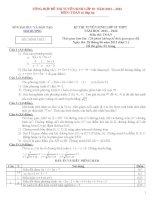 48 bộ đề và đáp án thi tuyển sinh vào lớp 10 môn Toán năm học 2011- 2012