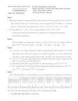 ĐỀ THI HỌC SINH GIỎI CÁC TRƯỜNG CHUYÊN DUYÊN HẢI VÀ ĐỒNG BẰNG BẮC BỘ NĂM 2015 -Hóa học  10 trường chuyên Hải Dương