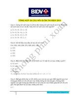 Tổng hợp 30 câu hỏi ôn thi vào BIDV đợt II 2015