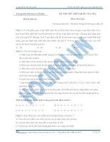 đề thi thử sinh học số 1 năm 2015 của học mãi