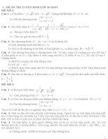 Bộ đề ôn thi vào lớp 10 môn toán rất hay (có đáp án)