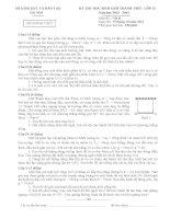 Đề thi học sinh giỏi Hà Nội 2013 vật lý 12 sưu tầm bồi dưỡng