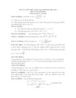 đề tự luyện THPT QG môn toán đề số 6
