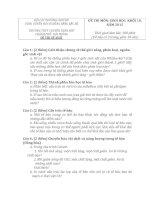 ĐỀ THI (ĐỀ XUẤT) HỌC SINH GIỎI CÁC TRƯỜNG CHUYÊN VÙNG DUYÊN HẢI VÀ ĐỒNG BẰNG BẮC BỘ  NĂM 2015 MÔN SINH HỌC TRƯỜNG CHUYÊN TRẦN PHÚ HẢI PHÒNG