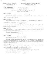 đề toán thi vào lớp 10 chuyên nguyễn quang diệu đồng tháp