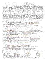 ĐỀ THI THỬ THQG NĂM 2015 MÔN THI TIẾNG ANH – ĐÁP ÁN ĐỀ 119 TRƯỜNG THPT LIỄN SƠN