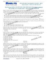40 câu hỏi trắc nghiệm Phương pháp giải bài tập Hoán vị gen P1