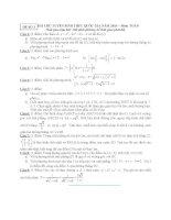 ĐỀ THI THỬ TUYỂN SINH THPT QUỐC GIA năm 2015 môn toán, đề số 3