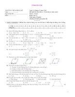 đề kiểm tra toán kì 1 lớp 8, đề thi số  10