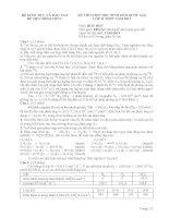 Đề thi Học sinh giỏi quốc gia năm 2011 môn hóa ngày 1 lớp 12