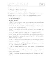 Ngân hàng câu hỏi đề thi môn -Cơ Sở Kỹ Thuật Chuyển Mạch học viện công nghệ bưu chính viễn thông