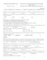 TRƯỜNG THPT HƯƠNG CẦN đề thi thử vật lý thpt quốc gia
