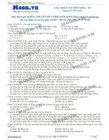 50 Câu hỏi trắc nghiệm Các nhân tố tiến hóa P2