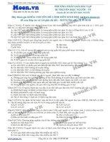 40 Câu hỏi trắc nghiệm Phương pháp giải bài tập Di truyền học người P3