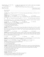 Đề thi thử quốc gia - 2015 - Môn Vật lý - Sở GD&ĐT TP. Hồ Chí Minh - TP. Hồ Chí Minh