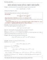 một số bài toán về đa thức một biến