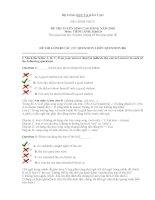 ôn thi đh môn tiếng anh,đáp án và giải thích đề 3