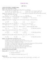 đề kiểm tra toán kì 1 lớp 8, đề thi số  9