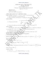 đề kiểm tra chất lượng học kì 1 môn toán lớp 12,đề tham khảo số 6
