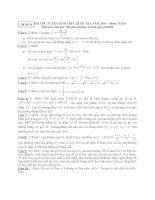 ĐỀ THI THỬ TUYỂN SINH THPT QUỐC GIA năm 2015 môn toán, đề số 8