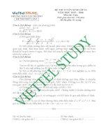 Đề thi thử vào lớp 10 môn Toán trường THCS Tân Trường, Hải Dương năm 2015