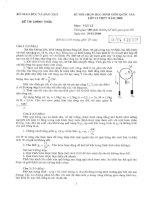 Đề thi HSG quốc gia 2008 môn Vật lý