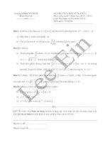 Đề thi cuối kì Giải tích 2 khóa K38 khoa Vật lý (HCMUP)