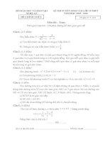 đề thi và đáp án môn toán vào lớp 10 THPT (Nghệ An) 2015-2016