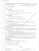 đề thi vào lớp 10 môn toán tỉnh hà nam năm 2015-2016