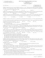 Đề thi thử lần 4 - 2014 - Môn Vật lý - Trường THPT Quỳnh Lưu 1 - Nghệ An