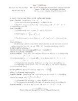 bộ đề THI THỬ tốt NGHIỆP môn toán năm 2014