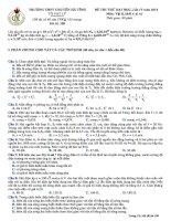 Đề thi thử lần 4 - 2014 - Môn Vật lý - Trường THPT Chuyên Hà Tĩnh - Hà Tĩnh
