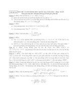 ĐỀ THI THỬ TUYỂN SINH THPT QUỐC GIA năm 2015 môn toán, đề số 10