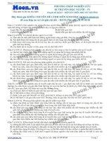 30 Câu hỏi trắc nghiệm Phương pháp nghiên cứu Di truyền học người P1