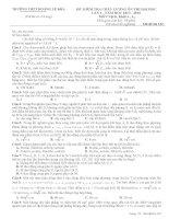 Đề thi thử lần 3 - 2014 - Môn Vật lý - Trường THPT Hoàng Lệ Kha - Thanh Hóa