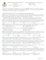 Đề thi thử lần 3 - 2014 - Môn Vật lý - Trường THPT Chuyên Hà Tĩnh - Hà Tĩnh