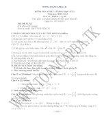 đề kiểm tra chất lượng học kì 1 môn toán lớp 12,đề tham khảo số 12