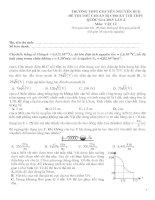 Đề thi thử vật lý trường chuyên Nguyễn Huệ Hầ Nội lần 4-2015