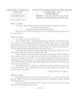Đề thi vào lớp 10 môn Văn THPT chuyên Hưng Yên năm 2013