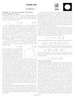 Bài giải đề thi Olympic Vật lý quốc tế 2012
