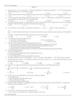 bộ đề ôn trắc nghiệm vật lý thi tốt nghiệp đề 6