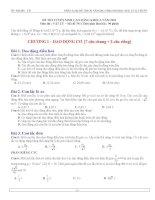 Phân loại đề  thi cao đẳng  2011 theo bài sgk lý 12 chuẩn